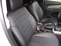 Авточехлы из экокожи Автолидер для  Seat Ibiza 4 с 2008-2017г. черные