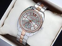 Женские наручные часы Michael Kors серебро-розовое золотого с дополнительным циферблатом