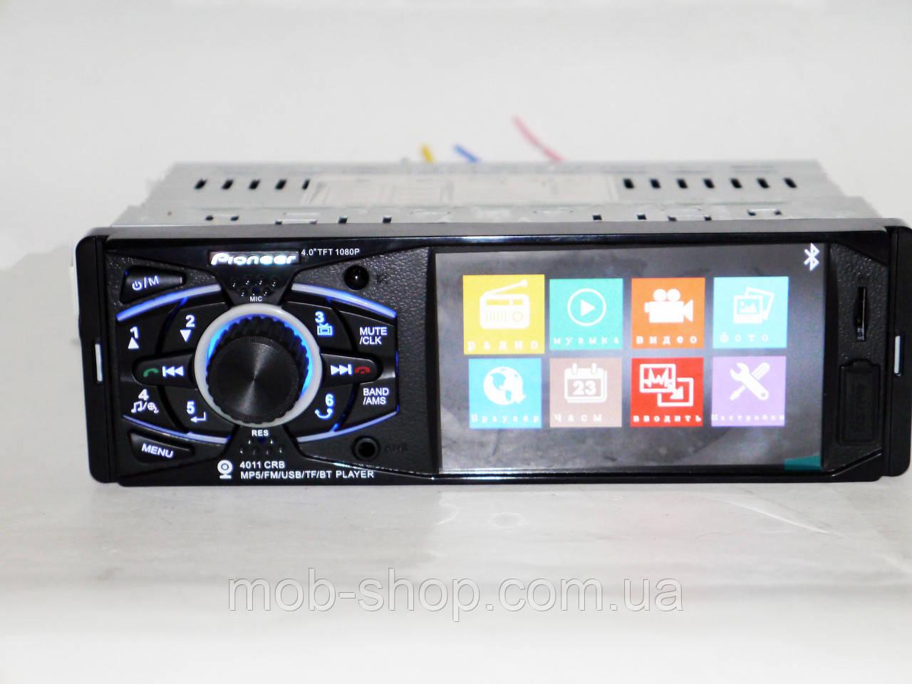 """Автомагнитола пионер Pioneer 4011 4""""дисплей+Bluetooth+пульт на руль"""