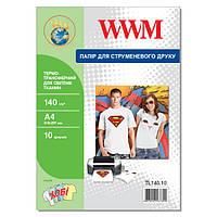 Термотрансферная Бумага WWM для светлых тканей 140г/м кв, А4, 10л (TL140.10)