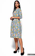 Женское расклешенное платье с цветочным принтом (Эмилия kr), фото 3