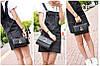 Модная стеганая сумка сундук с оригинальной застежкой каплей, фото 2