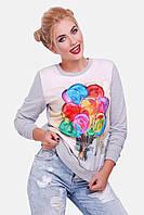 Свитшот женский с яркими шариками KF-1373C