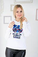 Свитшот с капюшоном Irvik X113 белый