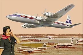Самолет DC-7C Японские авиалинии. 1/144 RODEN 303
