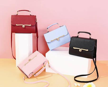 Стильна Fashion сумка скриня з гарною застібкою, фото 2