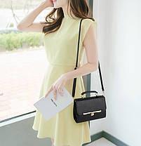 Стильна Fashion сумка скриня з гарною застібкою, фото 3
