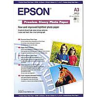 Фотобумага Epson Premium Glossy Photo Paper Глянцевая 255г/м кв, А3, 20л (C13S041315)