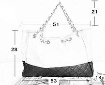 Вместительная сумка со стеганым дизайном на цепочке, фото 2