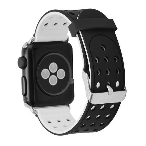 Двухсторонний ремешок с перфорацией Primo для Apple Watch 42mm / 44mm - Black&White