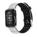 Подвійний ремінець з перфорацією Primo для Apple Watch 42mm / 44mm - Black&White, фото 2