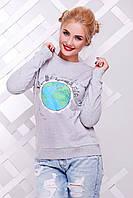 Свитшот женский с планетой Земля KF-1381C
