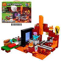 Конструктор по мотивам игры Майнкрафт (Minecraft) Портал в нижний мир, фигурки, 470 деталей, 33149, фото 1
