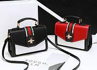 Стильная женская сумка сундучок с жучком Gucci