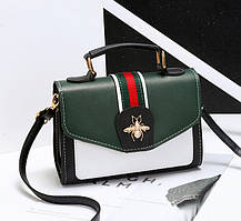 Стильная женская сумка сундучок с застежкой  Жук, фото 3