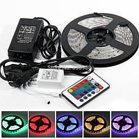 LED 5050 RGB Многоцветная светодиодная лента, Комплект лента + пульт + блок питания