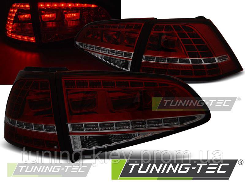 Задние фонари VW GOLF 7 13- RED SMOKE LED GTI LOOK