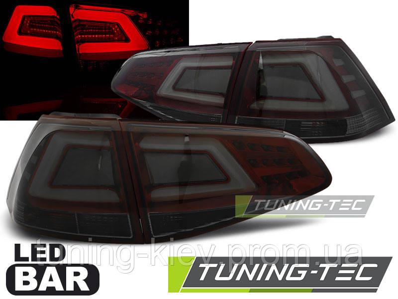 Задние фонари VW GOLF 7 13- SMOKE RED LED BAR