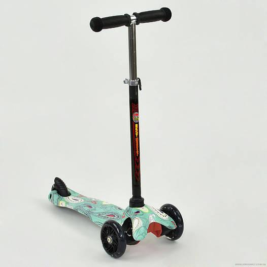 Самокат детский трехколесный Best scooter MINI, с рисунком от 2 лет