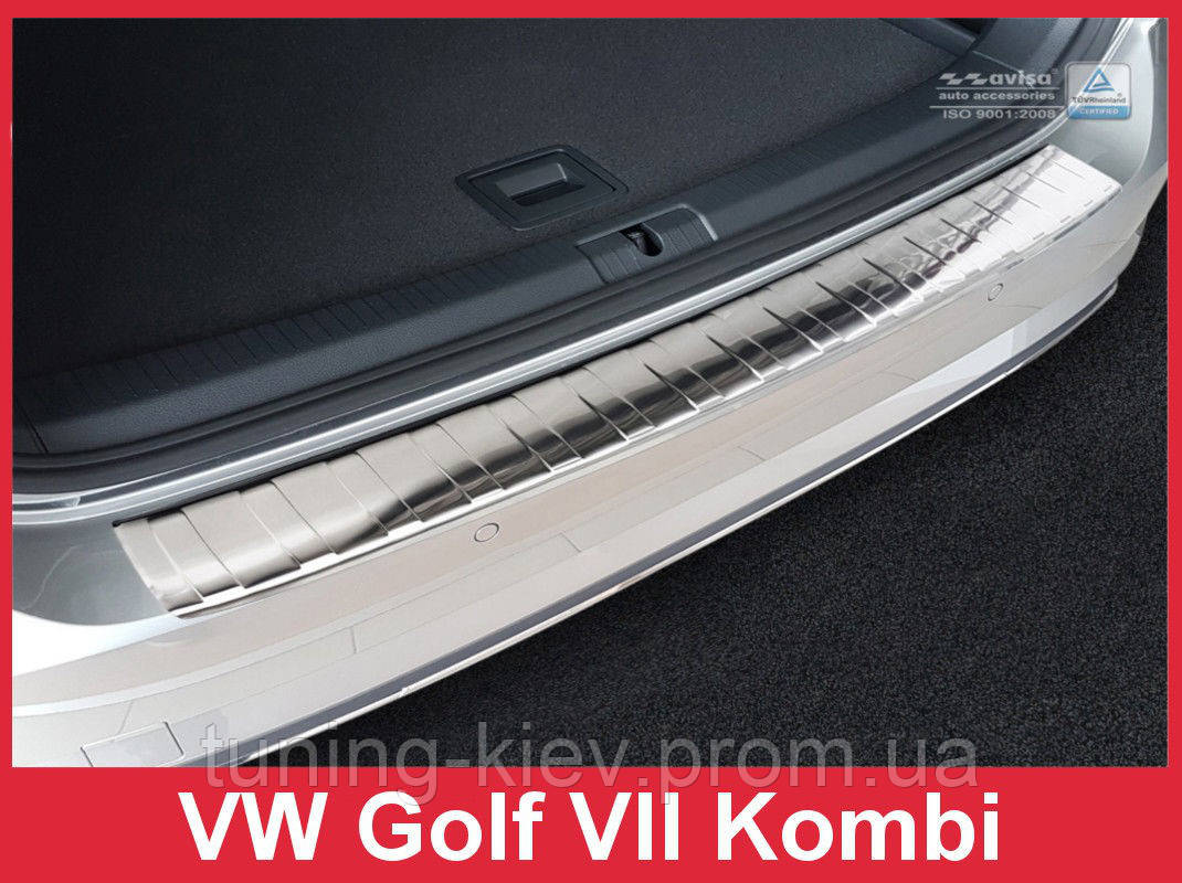 Защитная накладка на бампер Volkswagen Golf VII Variant (Kombi) FL