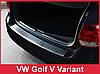 Накладка на бампер с загибом Volkswagen Golf V/VI Variant Kombi, фото 3