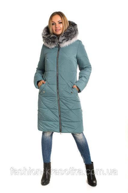 Шикарный женский зимний пуховик в размерах 42-60