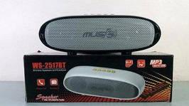 Колонка-динамик портативка крутая bluetooth колонка MP3 плеер WSTER WS-2517