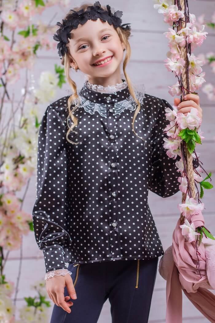 Школьная блузка на девочку SH-8