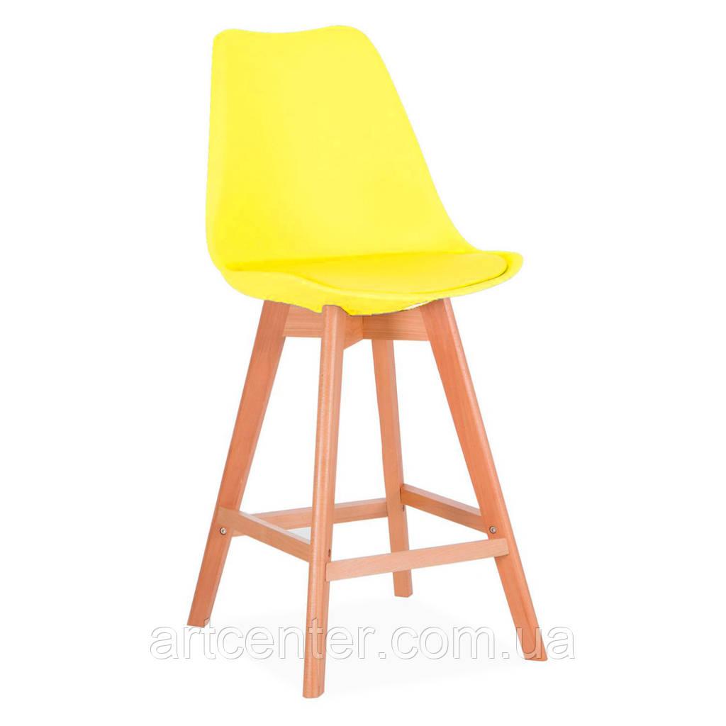 Стул для визажиста, стул для бара, стул для администратора, стул для кассира (ЭЛИОС желтый)