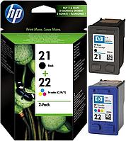 HP 21 Black + HP 22 Color Набор Картриджей (Combo Pack) (SD367AE)