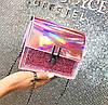 Отличная голографическая сумка сундук на цепочке, фото 6