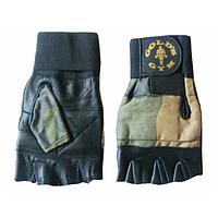 Перчатки для фитнеса ARMY с напульником черные S-XL(Од)