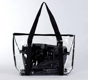 Большая прозрачная силиконовая сумка сумкой внутри