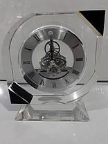 """Стеклянные настольные интерьерные часы """" Скелетон """" (07355), фото 2"""