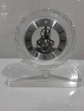 """Стеклянные настольные интерьерные часы """" Скелетон """" (07352), фото 2"""