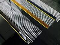 Профиль оконный примыкания КОРИЧНЕВЫЙ, СЕРЫЙ, БЕЖЕВЫЙ 6 мм с сеткой  Vertex, Valmiera (2,4 м)