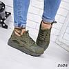 Кроссовки женские Nike Huarache хаки 5608, люкс качество
