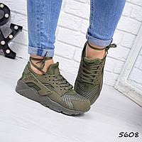 Кроссовки женские Nike Huarache хаки 5608, люкс качество, фото 1