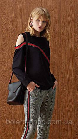 Блузка рубашка женская черная Италия, фото 2