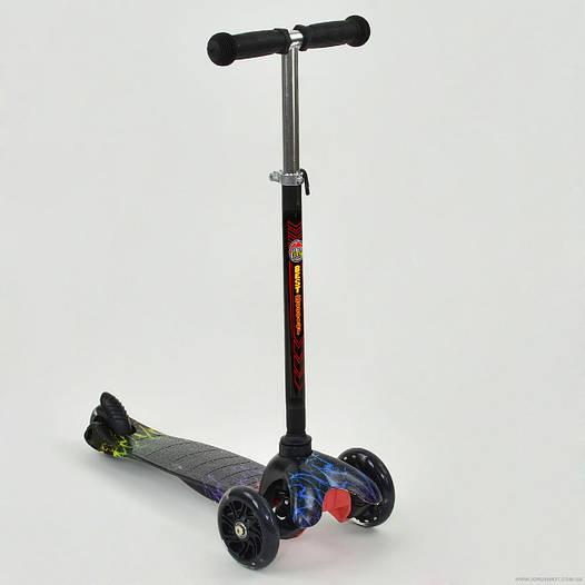 Самокат детский трехколесный Best scooter MINI, черный от 2 лет