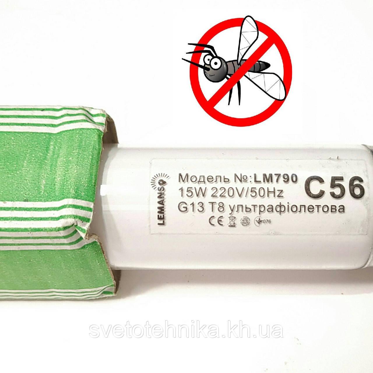 Люминесцентная лампа ультрафиолетовая insect Lemanso BL 350 G13 10W для уничтожителя комаров