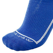 Футбольные гетры Europaw синие с трикотажным носком, фото 2