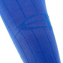Футбольные гетры Europaw синие с трикотажным носком, фото 3