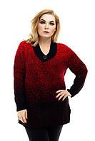 Свитер туника вязанный Снег (5 цв), свитер женский для полных, батальный женский свитер, дропшиппинг украина, фото 1