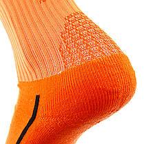 Футбольные гетры Europaw ярко-оранжевые с трикотажным носком, фото 2