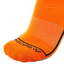 Футбольные гетры Europaw ярко-оранжевые с трикотажным носком, фото 3