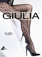 Женские колготки с узором в цветочной тематике ТМ Giulia