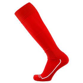 Футбольные гетры Europaw красные с трикотажным носком