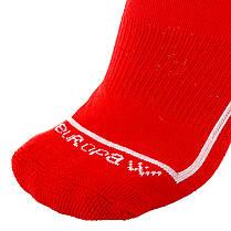 Футбольные гетры Europaw красные с трикотажным носком, фото 2