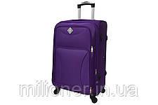 Чемодан на 4 колесах Bonro Tourist набор 3 штуки фиолетовый, фото 3
